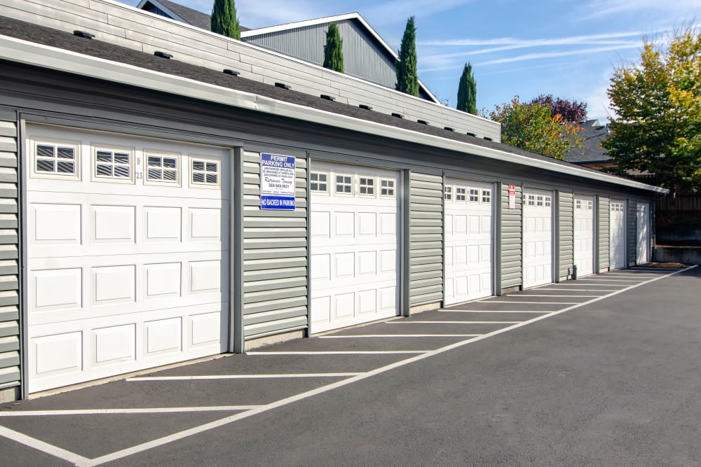 Convenient garages at The Addison Apartments in Vancouver, Washington