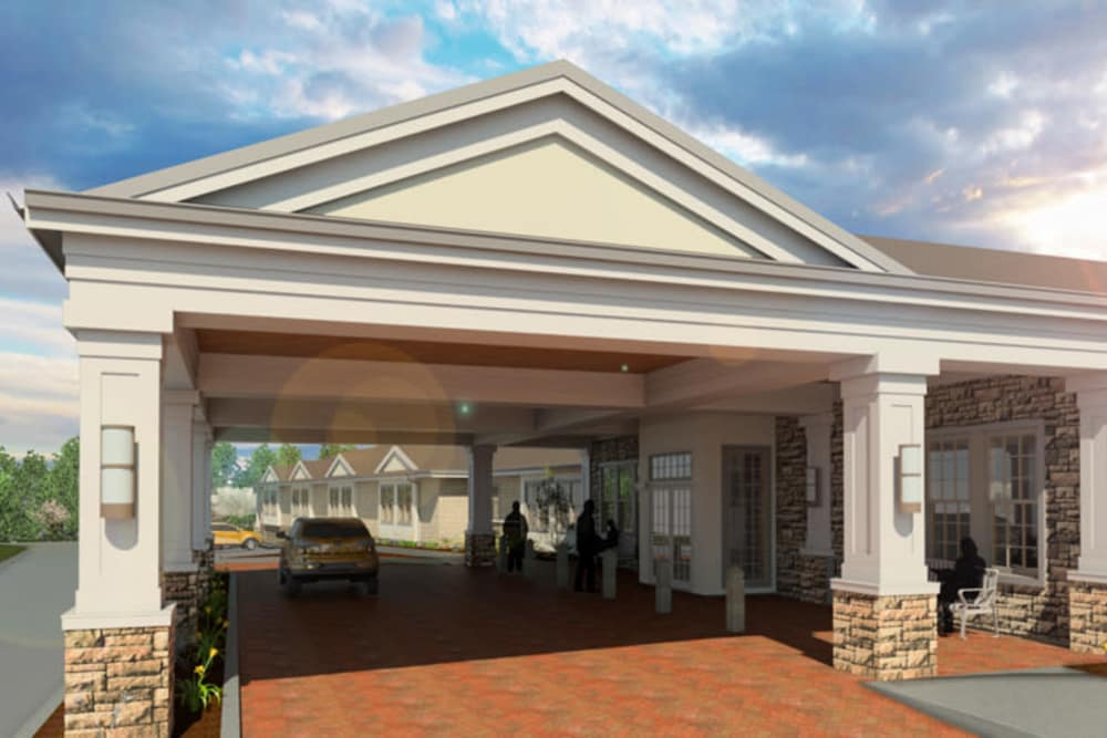 Rendering of Symphony at Cherry Hill entrance