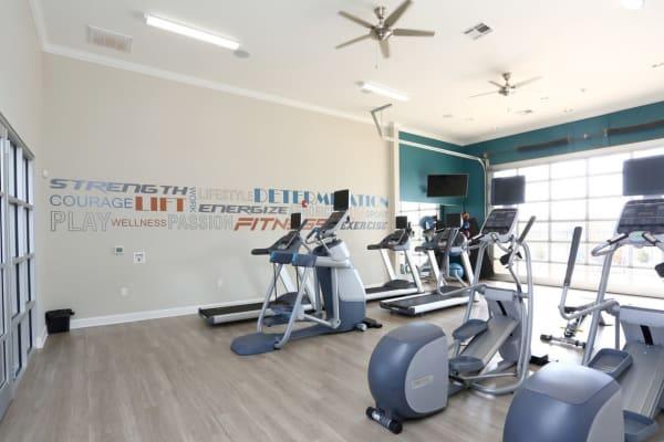 Fitness center at Springs at May Lakes in Oklahoma City
