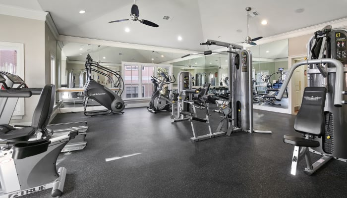 State-of-the-art fitness center at The Lyndon in Irving, Texas
