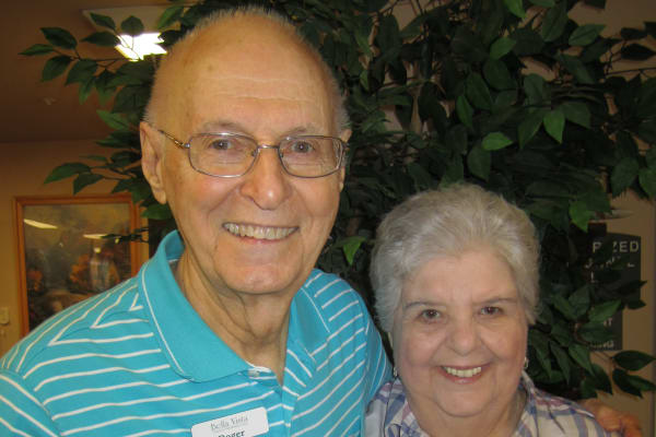 Janis & Roger Campbell,  residents at Bella Vista Gracious Retirement Living in Asheville, North Carolina