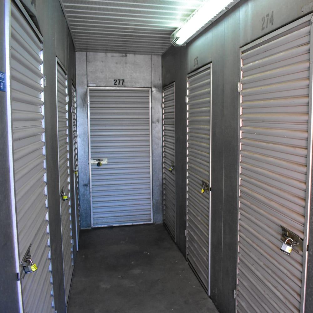 Interior storage units at STOR-N-LOCK Self Storage in Taylorsville, Utah