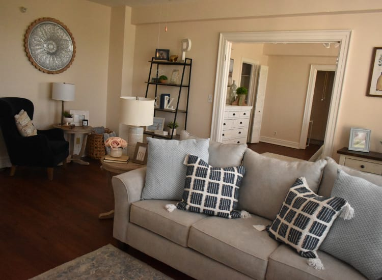 Model living room at Parkview in Memphis, Tennessee