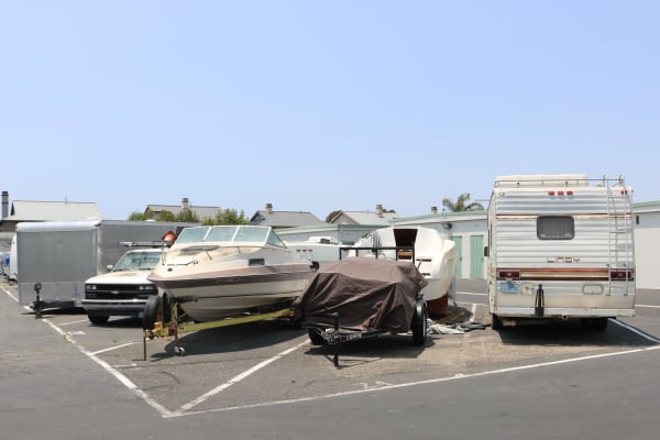 Secure RV and boat parking at Channel Islands Self Storage in Port Hueneme, California