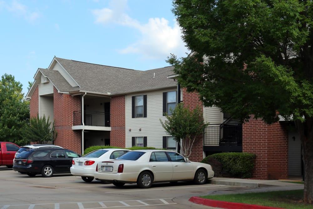 Parking lot at Chapel Ridge in Norman, Oklahoma