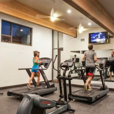 Modern Fitness Center at  Cedar Hills Apartments in Portland, OR
