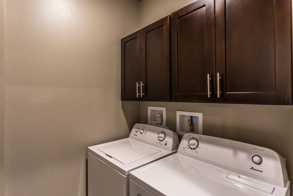 In-home washer and dryer at Arlo Luxury Apartment Homes in Little Rock, Arkansas