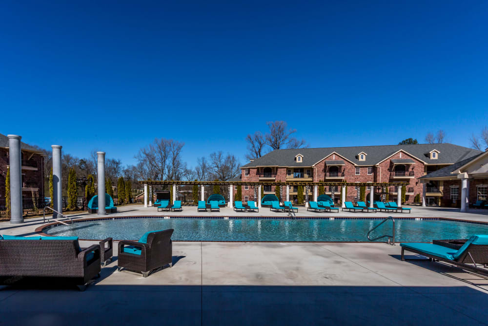 Sparkling pool at Arlo Luxury Apartment Homes in Little Rock, Arkansas