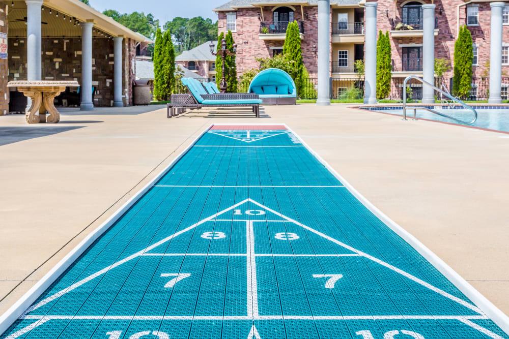 Shuffleboard court at Arlo Luxury Apartment Homes in Little Rock, Arkansas