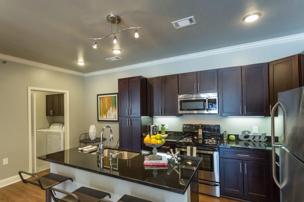Model kitchen at Arlo Luxury Apartment Homes in Little Rock, Arkansas