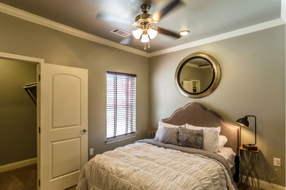 Model bedroom at Arlo Luxury Apartment Homes in Little Rock, Arkansas