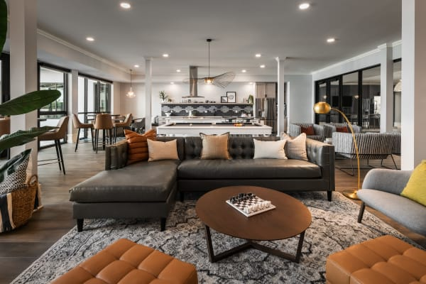 The Astor at Osborn offers a luxury living room in Phoenix, Arizona