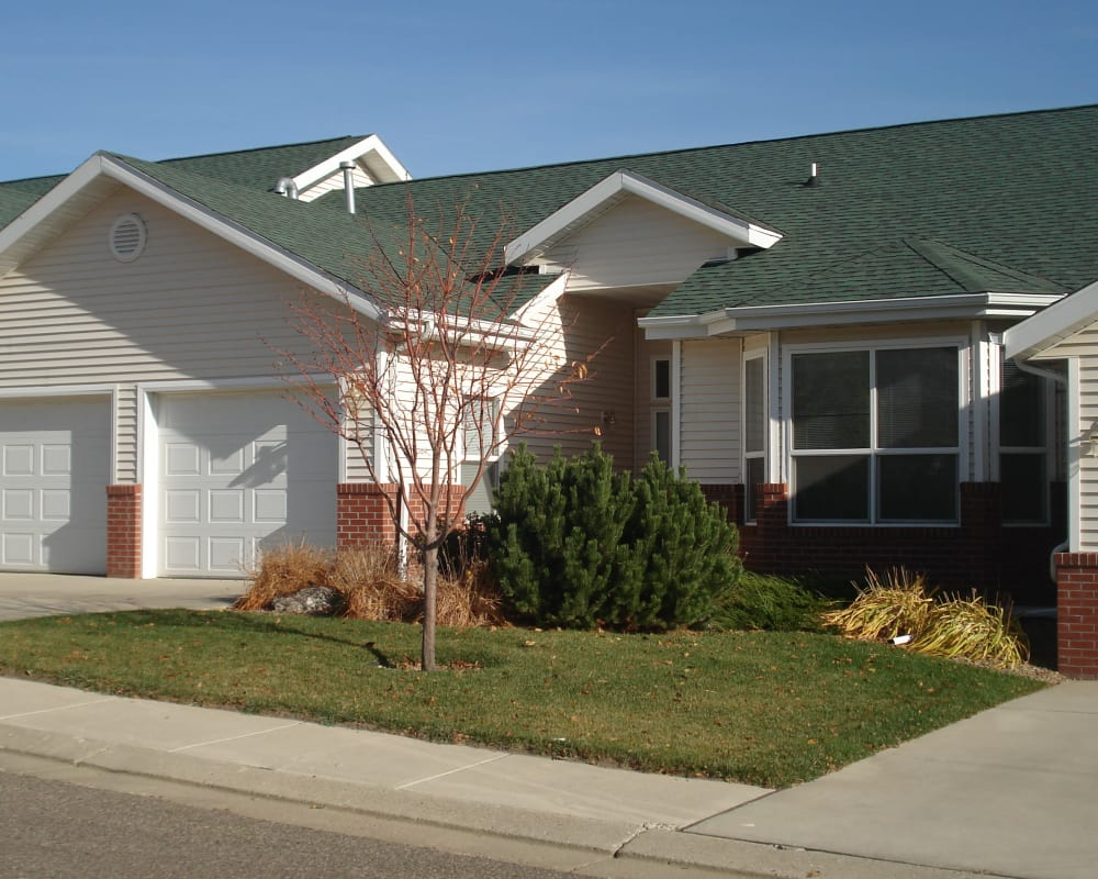Independent living cottage exterior at Touchmark on West Century in Bismarck, North Dakota