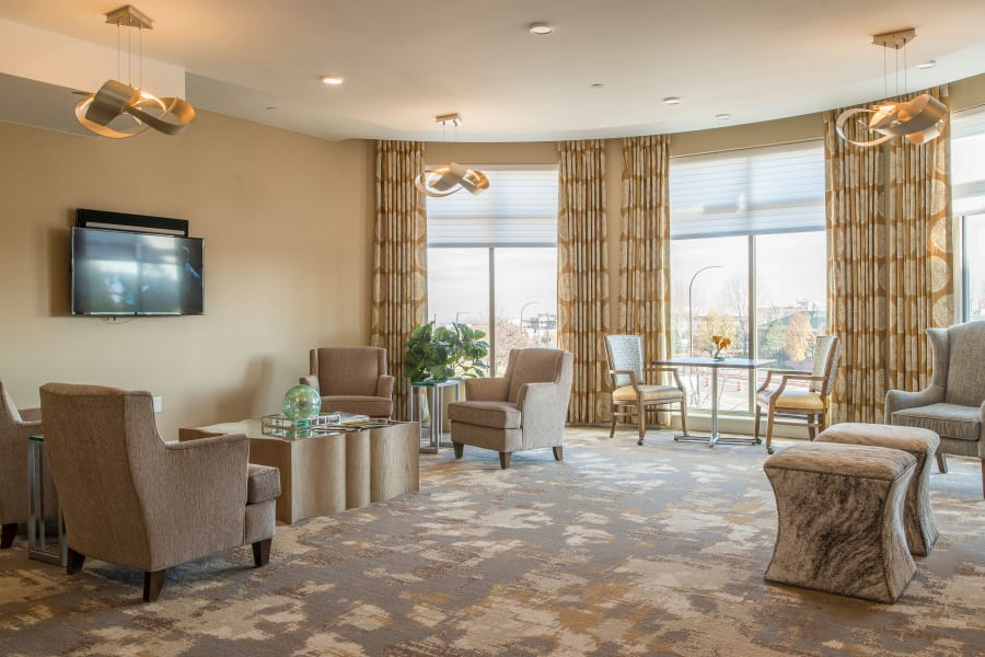 Common area living room at Village at Belmar
