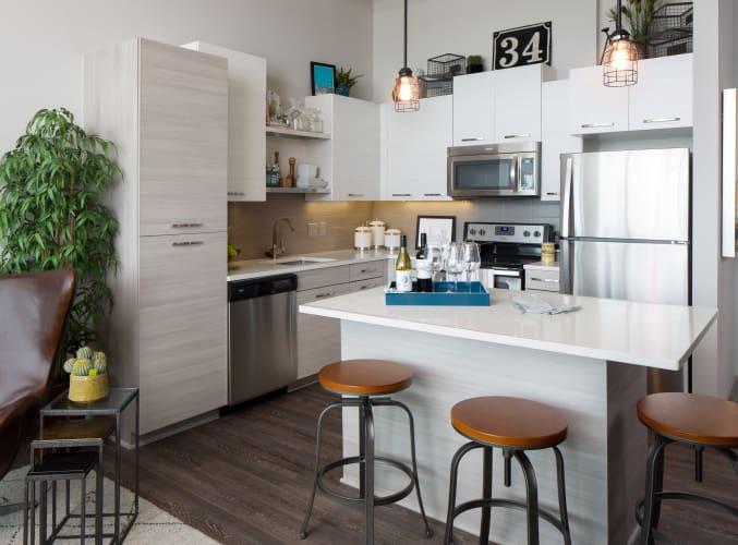 Bright kitchen at Altitude in Atlanta, GA