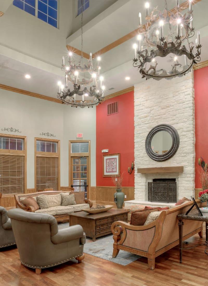 Indoor community space at Marquis Bandera in San Antonio, Texas