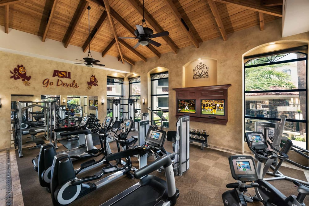 Onsite fitness center at San Marbeya in Tempe, Arizona