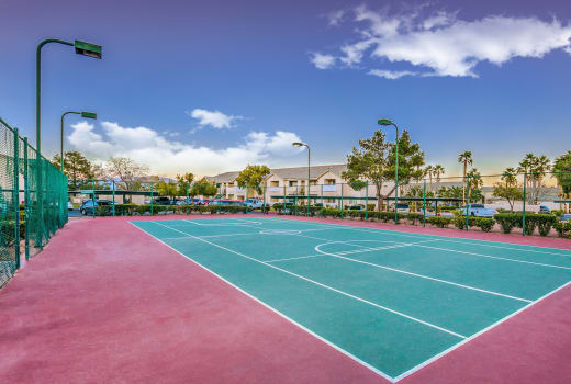 Tennis court at Portofino Villas Apartments