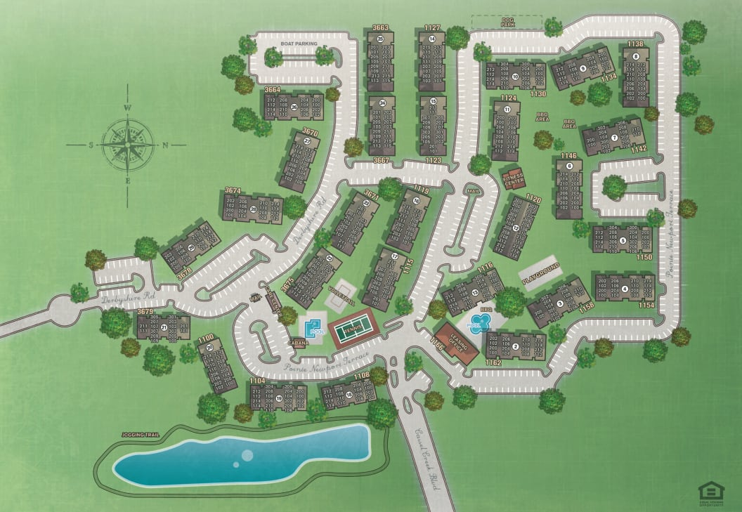Site plan for IMT Newport Colony in Casselberry, Florida