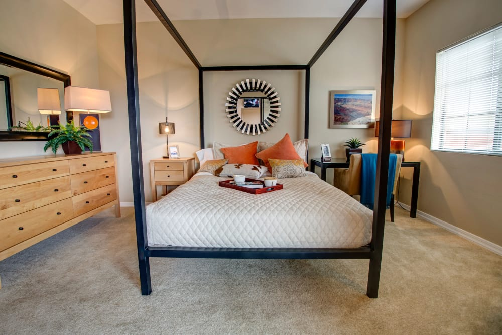 Spacious bedroom at Oro Vista Apartments in Oro Valley, Arizona