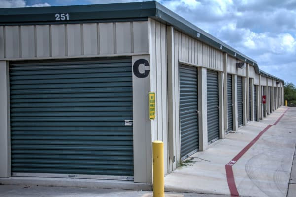Drive-up access at Lockaway Storage in San Antonio, Texas