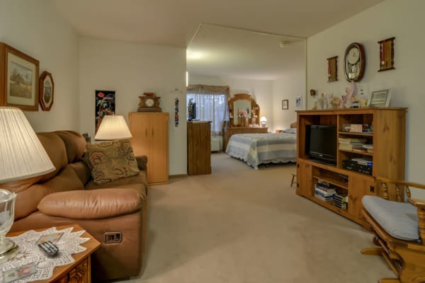 Assisted living Studio apartment at River Bend in Great Bend, Kansas