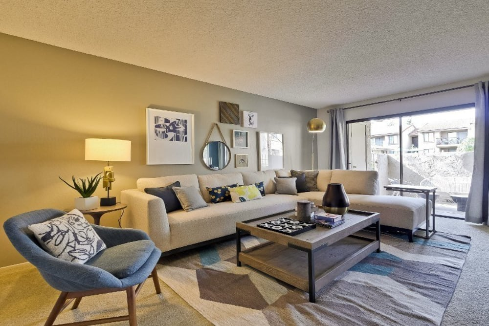 Living Room at Terra Willow Glen in San Jose