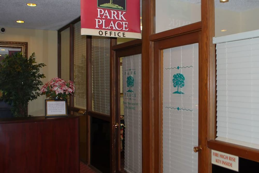 Leasing office at Park Place Senior Living in Sacramento, California