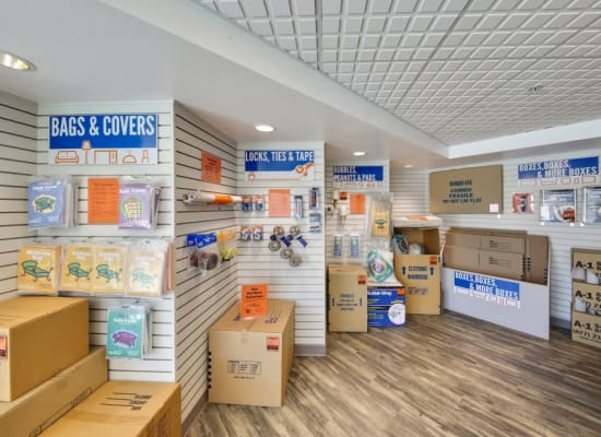 A variety of moving supplies available at A-1 Self Storage in El Cajon, California