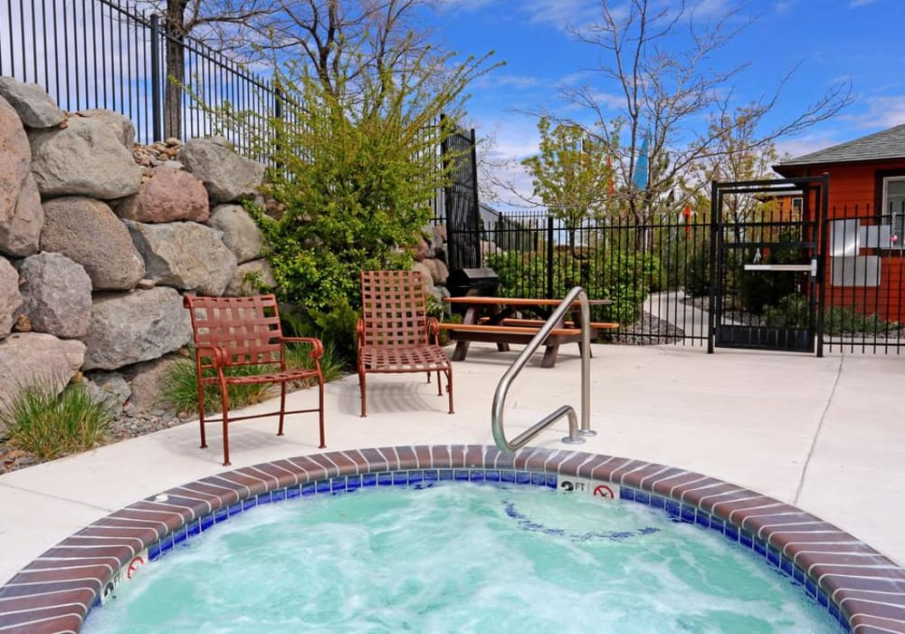 Outdoor hot tub at Northwind Apartments in Reno, Nevada