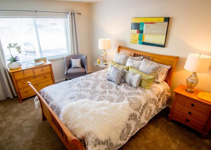 Resident bedroom at Marchwood Apartment Homes in Exton, Pennsylvania