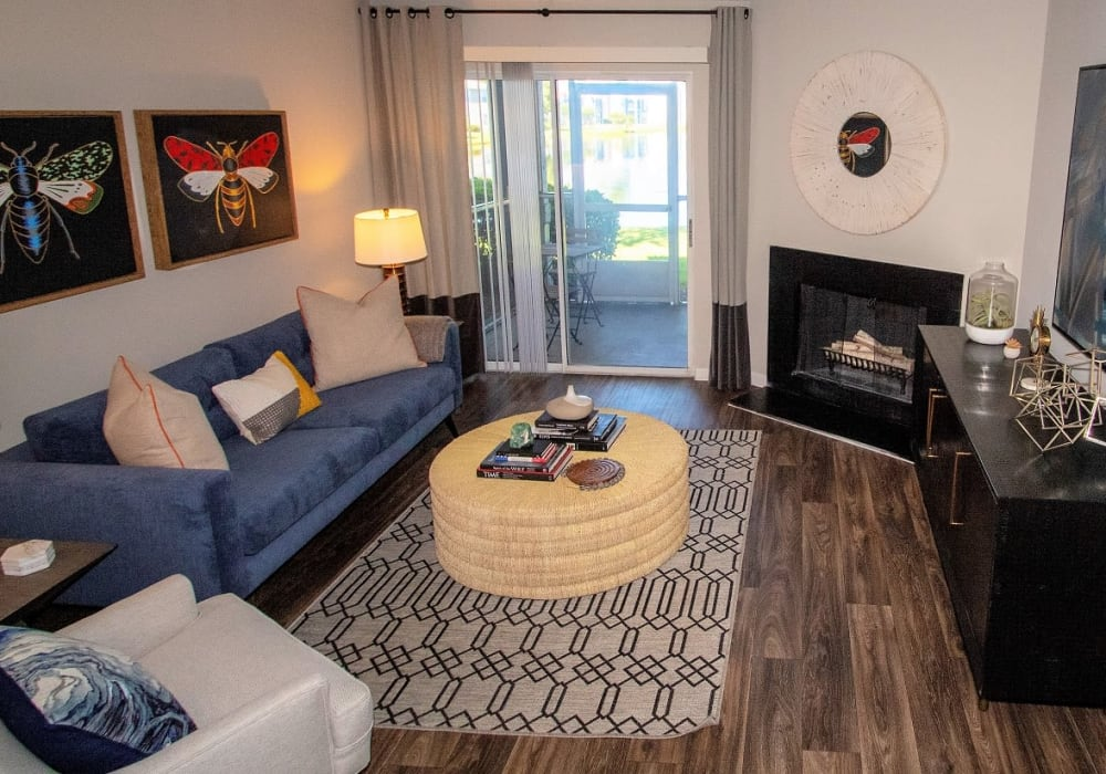 An apartment living room at Onyx Winter Park in Casselberry, FL