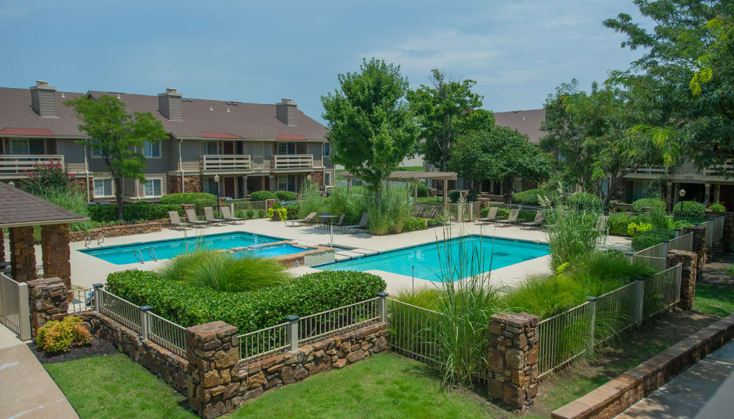 The pool at Chardonnay in Tulsa, Oklahoma