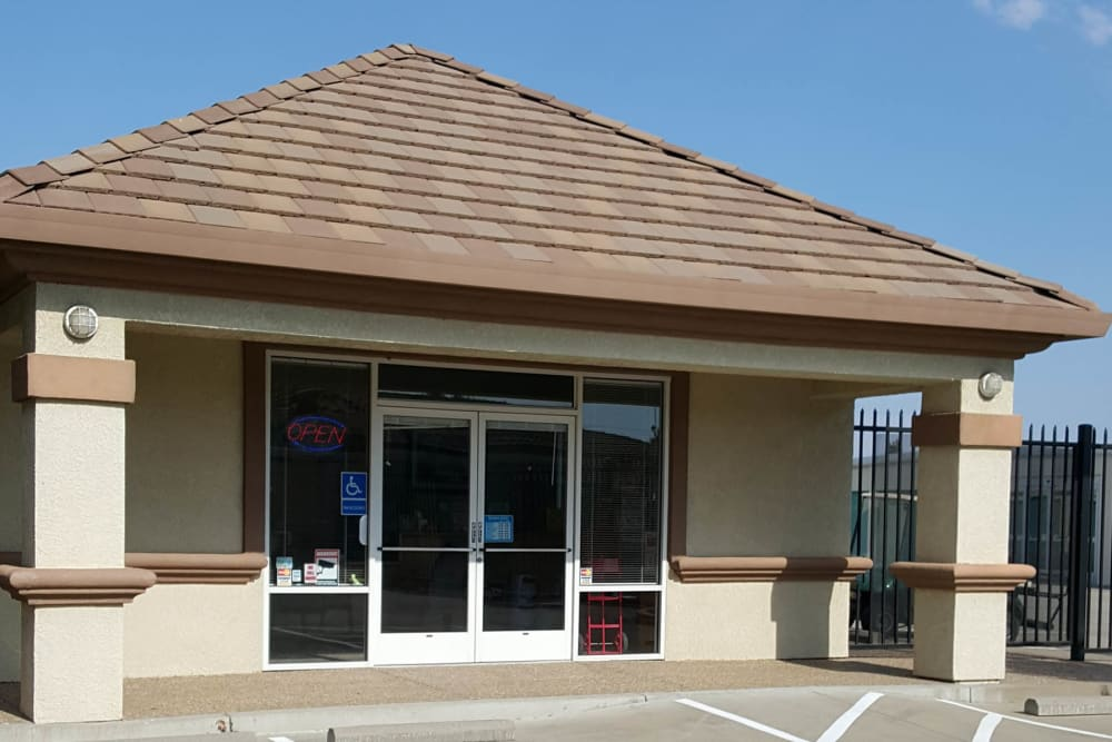 Front entrance at Superior Self Storage in Gold River, California