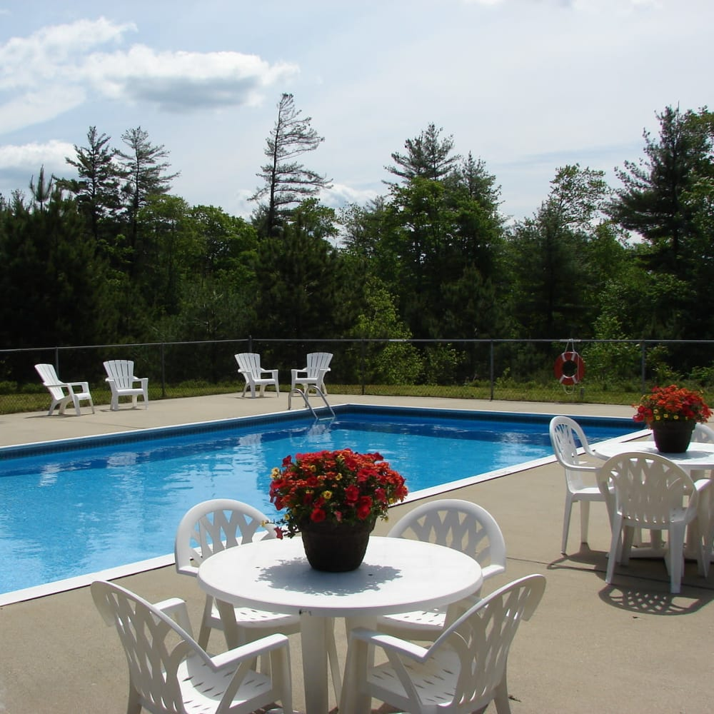 Swimming pool at a Pegasus Management property in Derry, New Hampshire