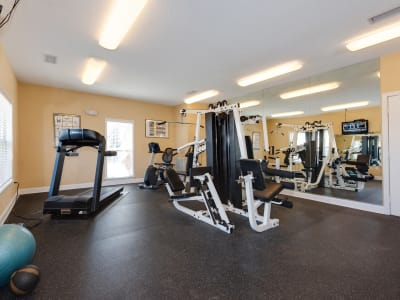 The Waterway Apartment Homes offers a fitness center in Lexington, SC