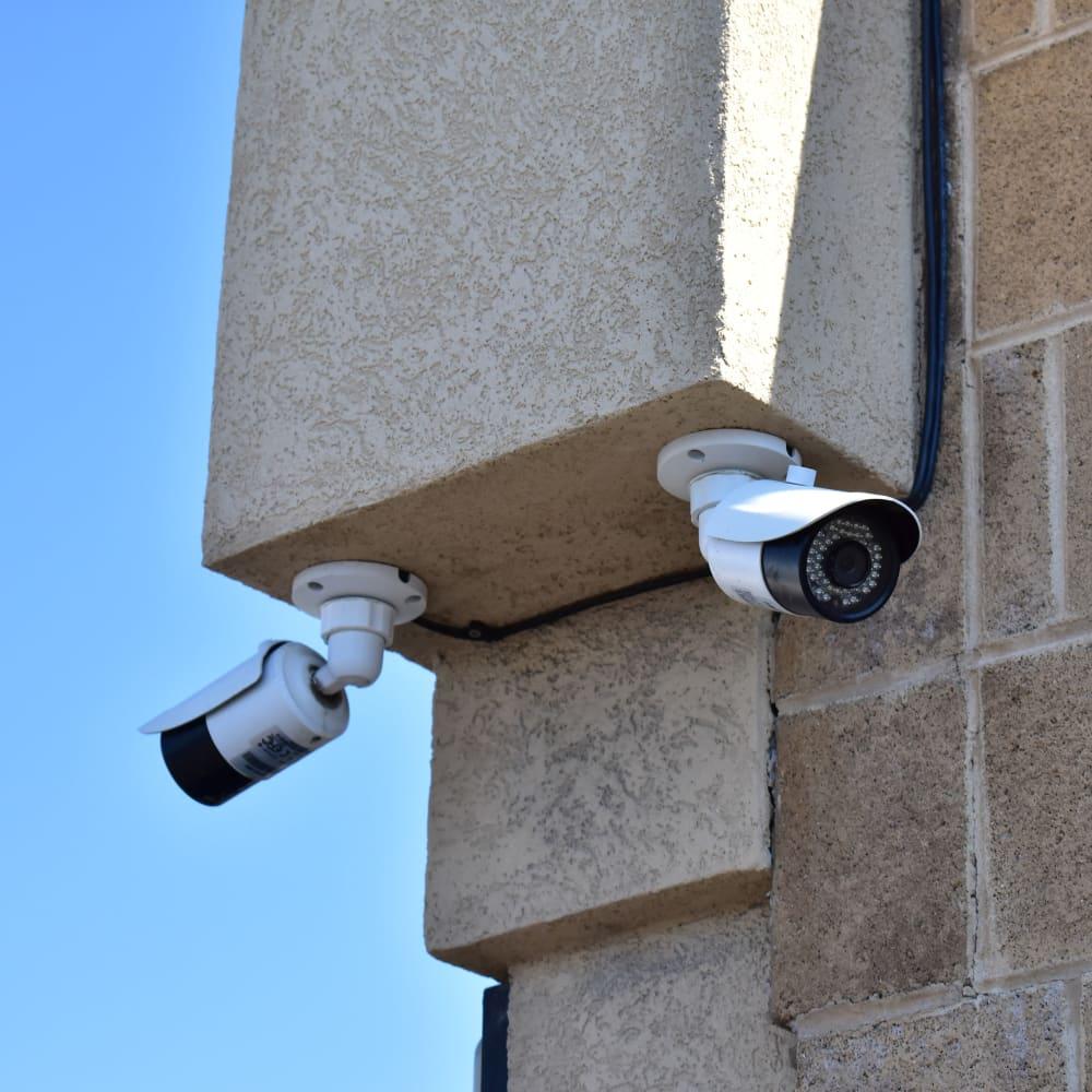 A video surveillance camera at STOR-N-LOCK Self Storage in West Valley City, Utah