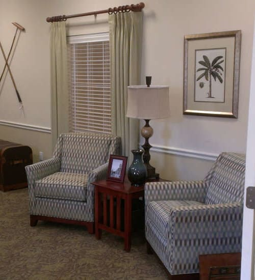 seating area at Grand Villa of Palm Coast in Palm Coast, Florida