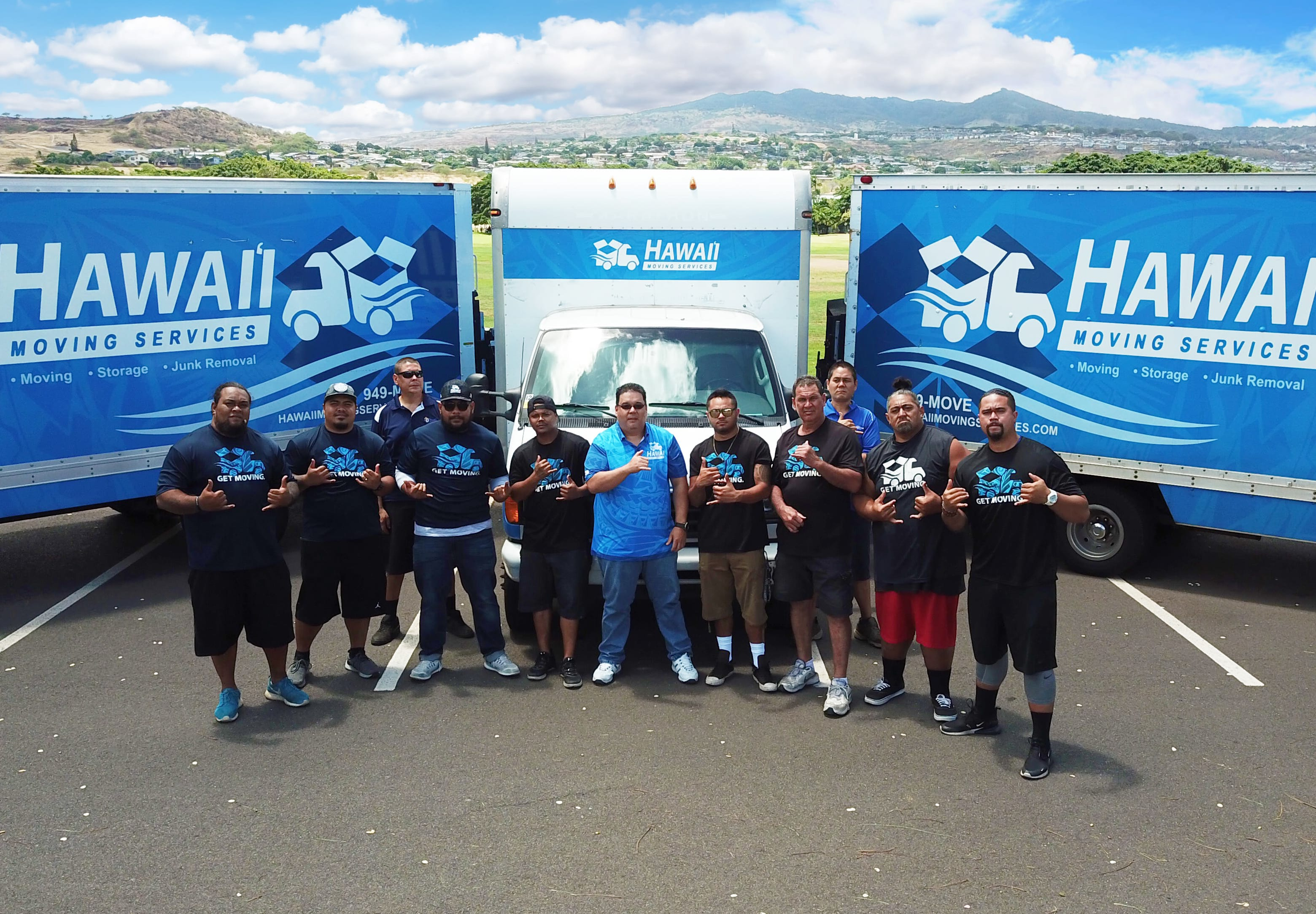 Image of our Hawai'i Self Storage moving services team