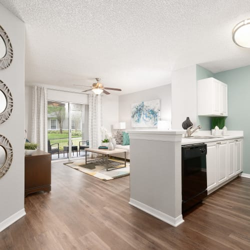 View virtual tour of a 2 bedroom 1 bathroom home at The Avenue in Ocoee, Florida