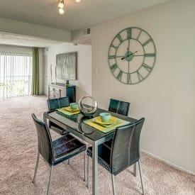 Dining room at Aston Ridge Apartments