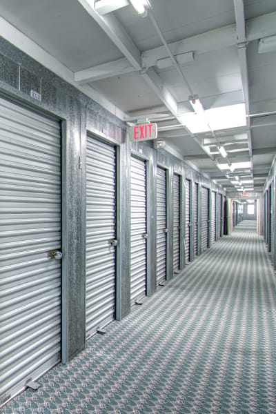 Storage units inside of Sorrento Valley Self Storage in San Diego, California