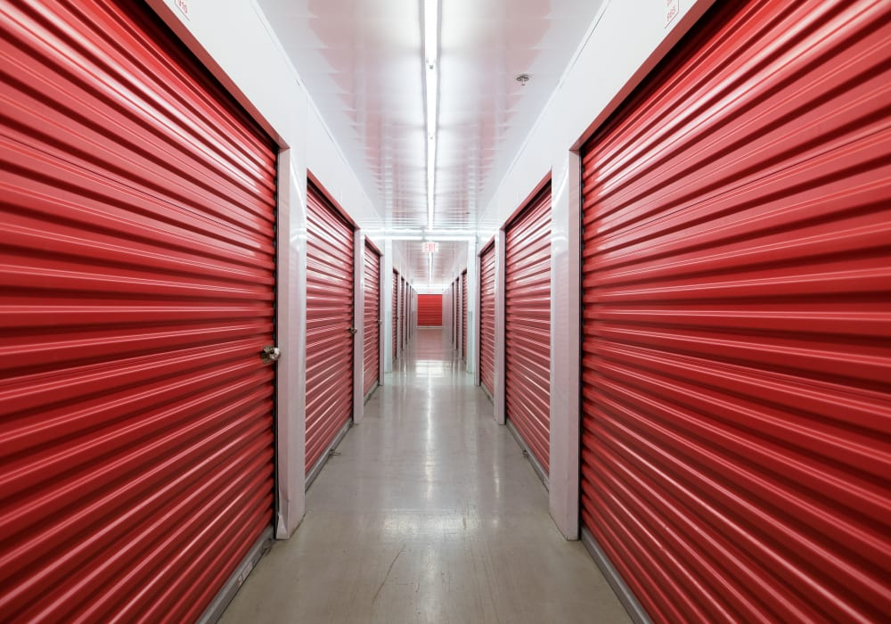 Temperature-controlled interior storage units at Apple Self Storage - Newmarket in Newmarket, Ontario