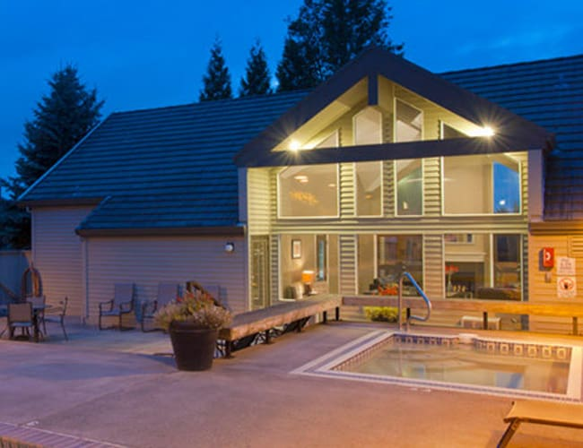 Clubhouse exterior at MiLO at Mountain Park in Lake Oswego