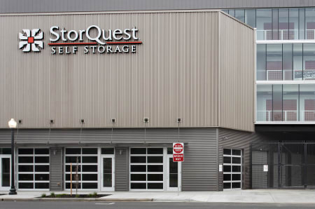 Store front at StorQuest Self Storage in Sacramento, California