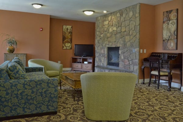 Common area at Wheatfields Senior Living Community in Clovis, New Mexico