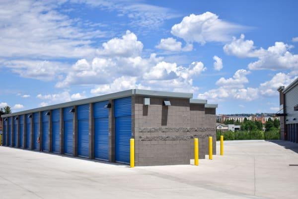 Exterior storage units along wide driveways at STOR-N-LOCK Self Storage in Colorado Springs, Colorado