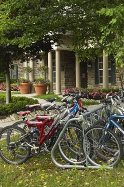 Bicycle parking at Highlands of Montour Run in Coraopolis, PA