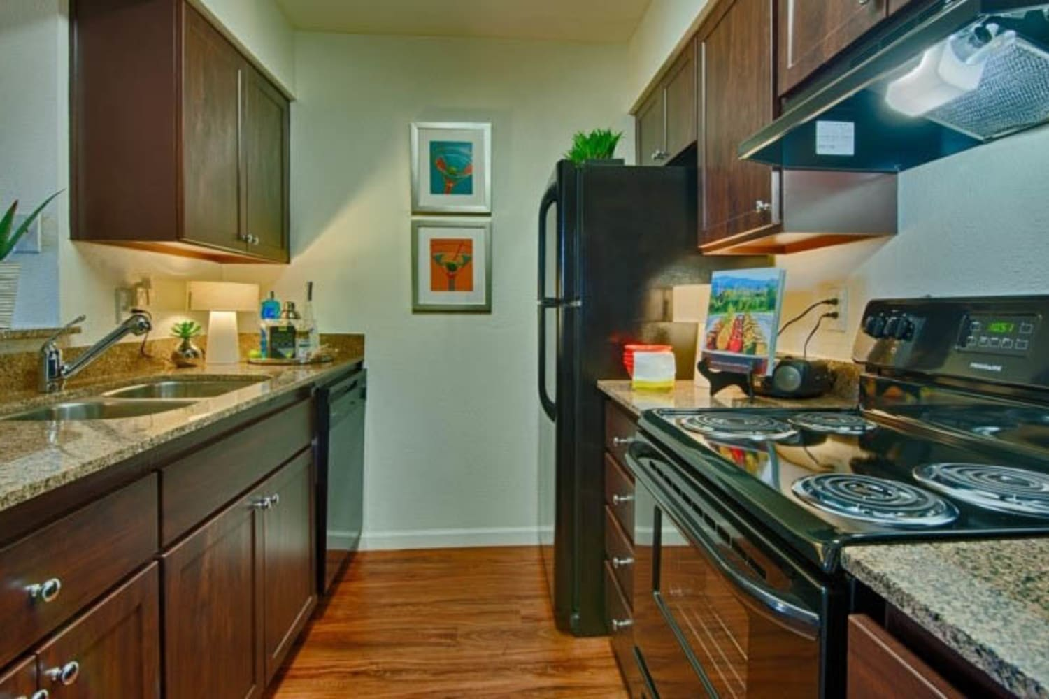 Modern appliances in kitchens at Cabrillo Apartments in Scottsdale, Arizona