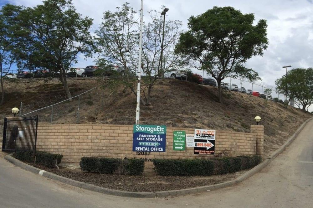 Self Storage Property Driveway Entrance at Storage Etc... Sylmar
